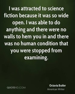 I was attracted to science 