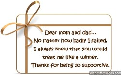 Dear mom and dad... 