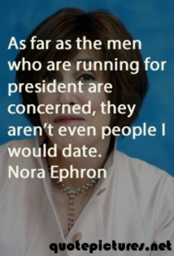As far as the men 