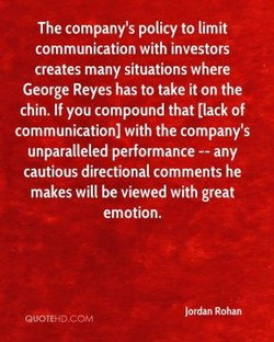 The company's policy to limit 