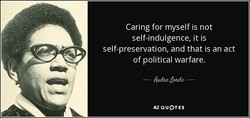 Caring for myself is not 