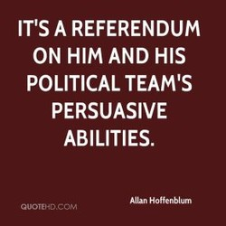 IT'S A REFERENDUM 