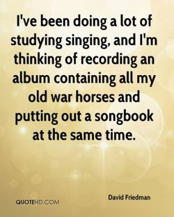 I've been doing a lot of 