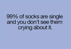 99% of socks are single 