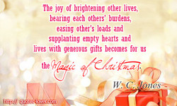The joy of brightening other lives, 