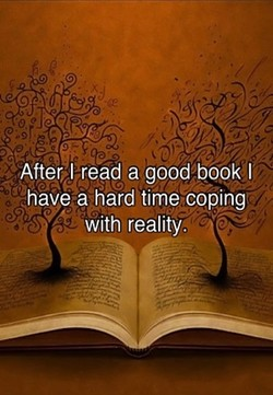 After!read a good book I 