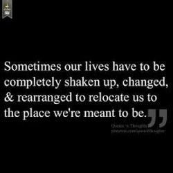 Sometimes our lives have to be 