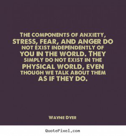THE COMPONNTS OF ANXIETY, 