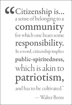 Citizenship is... 