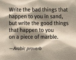 Write the bad things that 