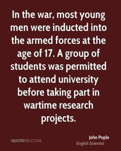 In the war, most young 