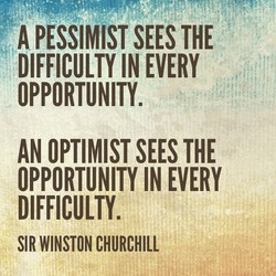 A PESSIMIST SEES THE 