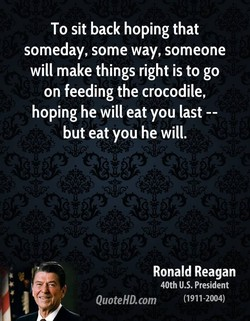 To sit back hoping that 