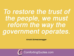To restore the trust of 