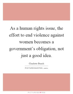 As a human rights issue, the 