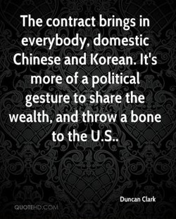 The contract brings in 