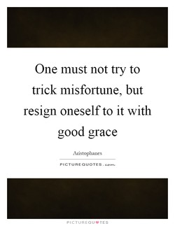 One must not try to 
