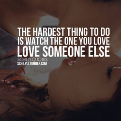 THE HARDEST THING TO DO 