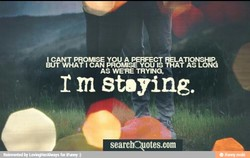 1 CAN'T PROMISE YOU A PERFECT RELATIONSHIP 