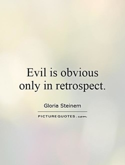 Evil is obvious 