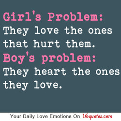 Girl's Problem: 