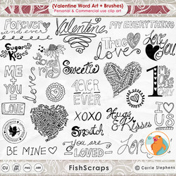 . (valentine word Art + Brushes) 