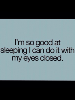 I'm so good at 