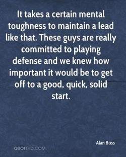 It takes a certain mental 