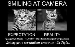 SMILING AT CAMERA 