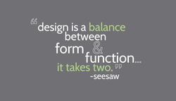 design is a balance 