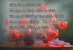 Life is like a NOTEBOOK. 