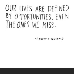 OUR LIVES ARE DEFINED 