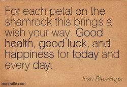 For each petal on the 