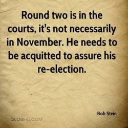 Round two is in the 