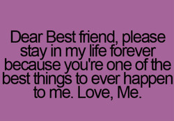 Dear Best friend please 