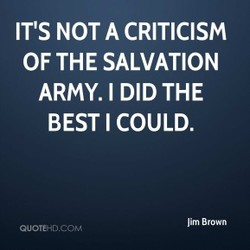 IT'S NOT A CRITICISM 