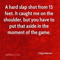 A hard slap shot from 15 
