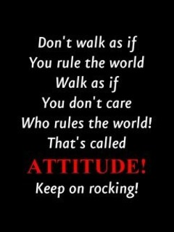 Don't walk as if 