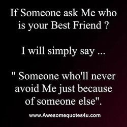 If Someone ask Me who 