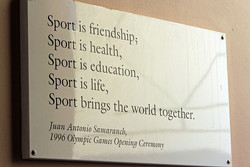 Sport is friendship; 