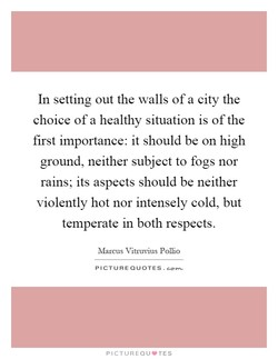 In setting out the walls of a city the 