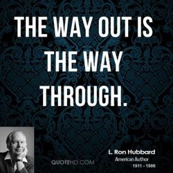 THE WAY OUT IS 