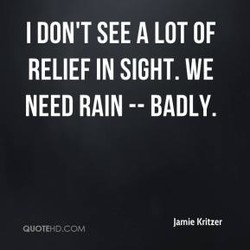 I DON'T SEE A LOT OF 