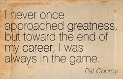 I never once 