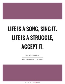 LIFE IS A SONG, SING IT. 