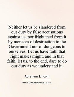 Neither let us be slandered from 