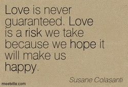 Love is never 