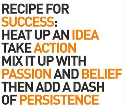 RECIPE FOR 