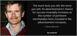 The more facts you tell, the more 