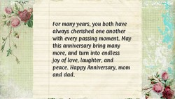 For many years, you both have 
